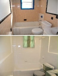 Before & After Bathroom Refinished Like New